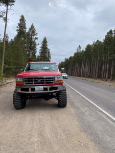 """1996 Ford F-350 - 20x12 -44mm - Wicked Offroad W903 - Suspension Lift 6"""" - 38"""" x 13.5"""""""