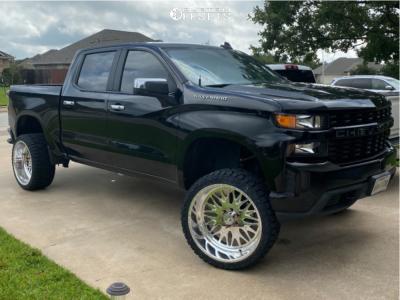 "2019 Chevrolet Silverado 1500 - 24x12 -40mm - American Force Locus Ss - Suspension Lift 6.5"" - 33"" x 12.5"""
