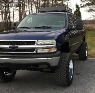 "2001 Chevrolet Suburban - 20x12 -44mm - Moto Metal MO962 - Suspension Lift 6"" - 35"" x 12.5"""