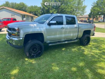 """2017 Chevrolet Silverado 1500 - 22x12 -51mm - ARKON OFF-ROAD Alexander - Suspension Lift 6"""" - 33"""" x 12.5"""""""