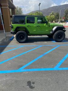 "2019 Jeep Wrangler - 17x8.5 -32mm - Black Rhino Garrison - Suspension Lift 3.5"" - 37"" x 12.5"""