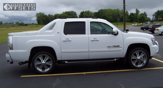 2007 Chevrolet Avalanche - 22x9.5 33mm - Boss Style 315 - Leveling Kit - 305/45R22
