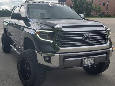 "2019 Toyota Tundra - 20x12 -44mm - Moto Metal Mo962 - Suspension Lift 6"" - 35"" x 12.5"""