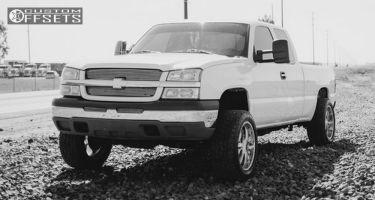 2004 Chevrolet Silverado 1500 - 20x10 -25mm - Ultra Predator - Leveling Kit & Body Lift - 265/50R20