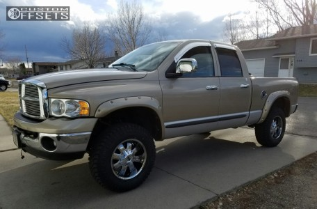 2004 Dodge Ram 1500 - 18x9 -12mm - Alloy Ion Style 189 - Leveling Kit - 275/70R18