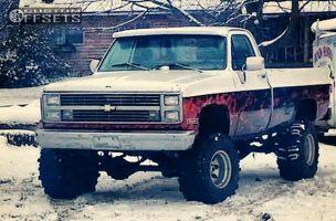 "1981 Chevrolet K10 - 16x12 -50mm - Mickey Thompson Classic II - Suspension Lift 6"" - 37"" x 13.5"""