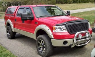 2007 Ford F-150 - 18x9 18mm - Alloy Ion Style 187 - Leveling Kit - 285/60R18