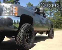 """2013 Chevrolet Silverado 1500 - 20x10 -19mm - BMF Novakane - Suspension Lift 7.5"""" - 35"""" x 12.5"""""""