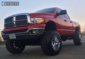 "2005 Dodge Ram 1500 - 20x14 -76mm - Fuel Maverick - Suspension Lift 6"" & Body 3"" - 37"" x 13.5"""