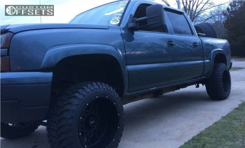 "2007 Chevrolet Silverado 1500 Classic - 20x12 -51mm - Vision Rocker - Body Lift 3"" - 33"" x 12.5"""