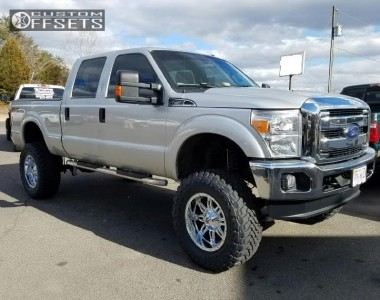 "2014 Ford F-250 Super Duty - 20x10 -24mm - Fuel Hostage - Suspension Lift 8"" - 38"" x 13.5"""
