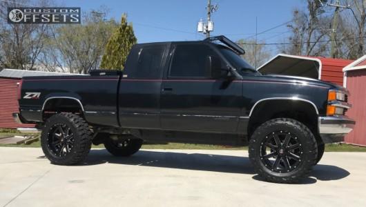 "1994 Chevrolet K1500 - 20x10 -19mm - Ballistic Rage - Suspension Lift 6"" - 35"" x 12.5"""