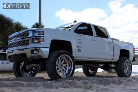 "2015 Chevrolet Silverado 1500 - 24x12 -51mm - Fuel Forged Ff29 - Suspension Lift 9"" - 325/45R24"