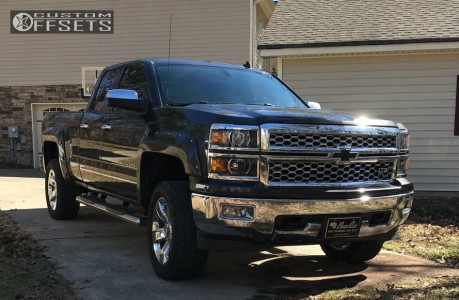 2014 Chevrolet Silverado 1500 - 20x9 27mm - Spaced Out Stockers Spaced Out Stockers - Leveling Kit - 285/55R20