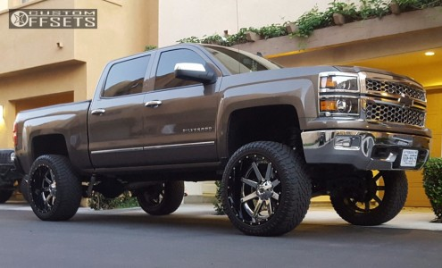 "2014 Chevrolet Silverado 1500 - 24x12 -44mm - Fuel Maverick D260 - Suspension Lift 9"" - 325/45R24"