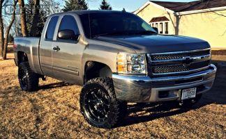 """2012 Chevrolet Silverado 1500 - 20x9 -12mm - Fuel Hostage - Suspension Lift 5"""" - 33"""" x 12.5"""""""