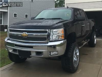 "2012 Chevrolet Silverado 1500 - 20x12 -44mm - Gear Off-Road Big Block - Suspension Lift 6.5"" - 35"" x 12.5"""