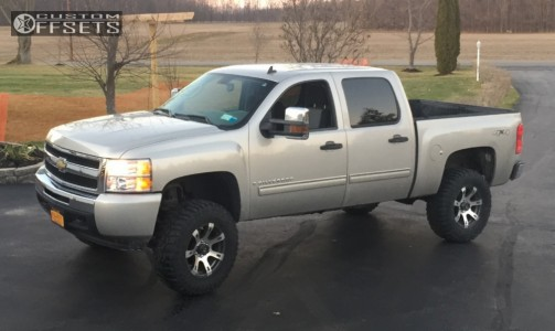 "2010 Chevrolet Silverado 1500 - 18x9 12mm - American Outlaw Sheriff - Suspension Lift 6"" - 295/70R18"