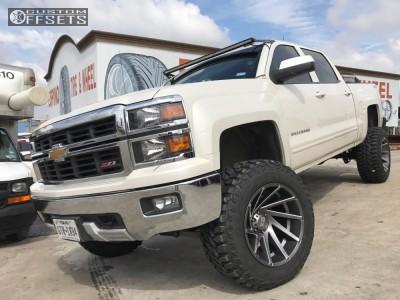 "2015 Chevrolet Silverado 1500 - 20x12 -44mm - XD Xd834 - Suspension Lift 7"" - 35"" x 12.5"""