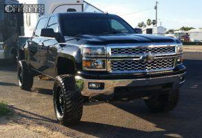 "2014 Chevrolet Silverado 1500 - 20x9 0mm - Moto Metal MO962 - Suspension Lift 6"" - 35"" x 12.5"""