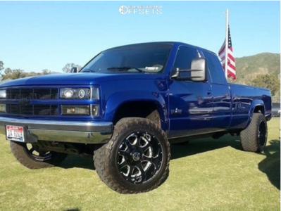 """1993 Chevrolet K2500 - 20x12 -44mm - Anthem Off-Road Defender - Leveling Kit - 33"""" x 12.5"""""""