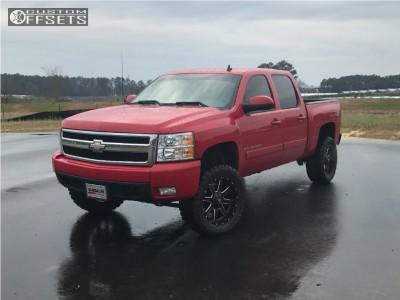 """2007 Chevrolet Silverado 1500 - 20x9 1mm - Fuel 538 - Suspension Lift 4.5"""" - 33"""" x 12.5"""""""