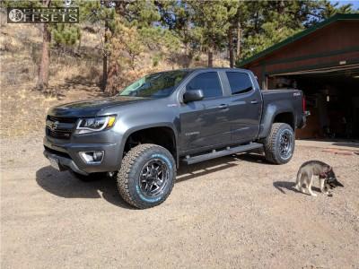 """2016 Chevrolet Colorado - 18x9 0mm - XD Rockstar 3 - Suspension Lift 5.5"""" - 275/70R18"""