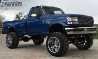 """1996 Ford F-350 - 22x14 -76mm - XD Diesel - Suspension Lift 8"""" - 37"""" x 13.5"""""""