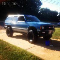 "1994 Chevrolet S10 Blazer - 15x8 -13mm - Cragar Soft 8 - Lifted >9"" - 33"" x 12.5"""