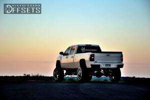 "2008 Chevrolet Silverado 3500 HD - 24x14 -76.2mm - American Force Compass - Lifted >9"" - 37"" x 13.5"""