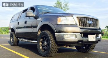 2005 Ford F-150 - 20x9 -12mm - Fuel Octane - Leveling Kit - 295/55R20