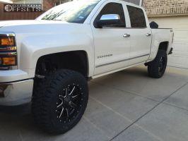 "2015 Chevrolet Silverado 1500 - 20x9 1mm - Fuel Maverick - Suspension Lift 6"" - 35"" x 12.5"""