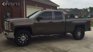 "2014 Chevrolet Silverado 1500 - 20x9 -12mm - XD Hoss - Suspension Lift 3.5"" - 33"" x 12.5"""
