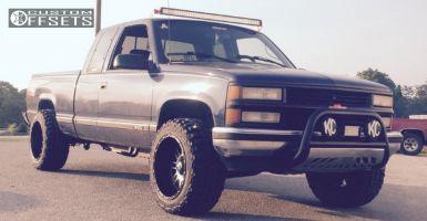 "1996 Chevrolet K1500 - 20x12 -44mm - XD Riot - Leveling Kit - 33"" x 12.5"""