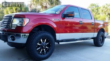 2012 Ford F-150 - 18x9 18mm - Moto Metal MO970 - Leveling Kit - 295/70R18