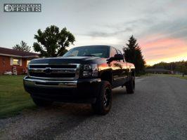 """2010 Chevrolet Silverado 1500 - 18x9 -12mm - Fuel Boost - Suspension Lift 3.5"""" - 285/65R18"""