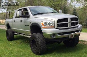 "2006 Dodge Ram 3500 - 18x12 -44mm - Fuel Hostage - Suspension Lift 7.5"" - 37"" x 13.5"""