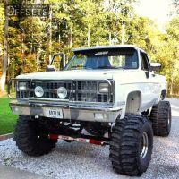 """1982 Chevrolet K10 - 15x14 -114.3mm - Cragar Super Slot - Suspension Lift 12"""" - 40"""" x 18.5"""""""