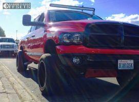 2002 Dodge Ram 1500 - 20x12 -44mm - Fuel Maverick - Leveling Kit & Body Lift - 305/50R20