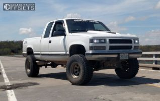 """1999 Chevrolet K1500 - 16x10 -38mm - Alloy Ion Style 171 - Suspension Lift 6"""" - 35"""" x 12.5"""""""