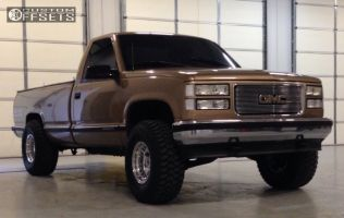 """1998 GMC K1500 - 15x10 -38mm - Alloy Ion Style 171 - Suspension Lift 3"""" - 33"""" x 12.5"""""""