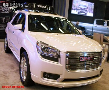 2012 GMC Acadia - 20x7.5 50mm - Stock Spaced Out Stockers - Stock Suspension - 255/55R20