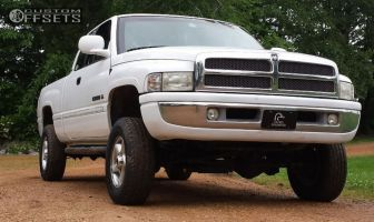 """1999 Dodge Ram 1500 - 16x8 25mm - Spaced Out Stockers Spaced Out Stockers - Suspension Lift 3"""" - 265/45R16"""