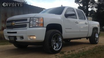 2012 Chevrolet Silverado 1500 - 20x12 -44mm - Alloy Ion Style 183 - Leveling Kit - 275/55R20