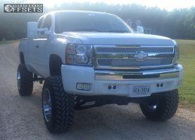 """2007 Chevrolet Silverado 1500 - 20x12 -44mm - Fuel Hostage - Suspension Lift 9"""" - 37"""" x 12.5"""""""