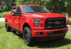 "2015 Ford F-150 - 20x9 14mm - Fuel Maverick - Leveling Kit - 33"" x 12.5"""
