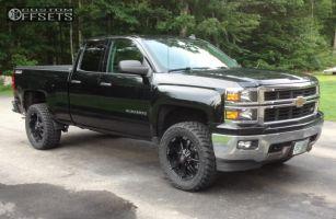 "2014 Chevrolet Silverado 1500 - 20x9 12mm - Ballistic Morax - Suspension Lift 3.5"" - 295/55R20"
