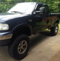"""2002 Ford F-150 - 17x8 -6mm - Helo He791 - Suspension Lift 8"""" - 37"""" x 12.5"""""""