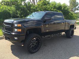 "2014 Chevrolet Silverado 1500 - 22x10 -24mm - Fuel Maverick - Suspension Lift 6"" - 35"" x 12.5"""