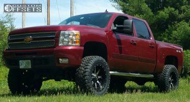 """2013 Chevrolet Silverado 1500 - 20x10 -24mm - Fuel Nutz - Suspension Lift 6"""" - 35"""" x 12.5"""""""